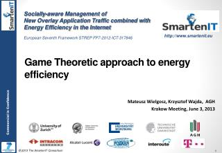 Game Theoretic approach  to energy  efficiency