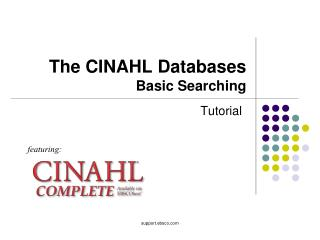 The CINAHL Databases Basic Searching