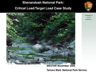 Shenandoah National Park:  Critical Load/Target Load Case Study