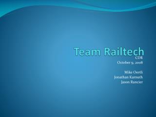 Team Railtech