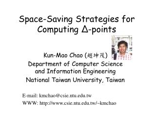Space-Saving Strategies for Computing  Δ -points
