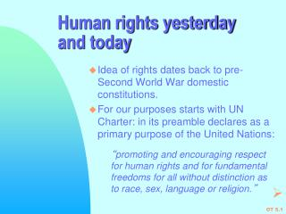 Human rights yesterday and today