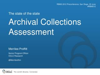 Archival Collections Assessment