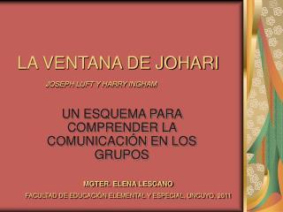 LA VENTANA DE JOHARI  JOSEPH LUFT Y HARRY INGHAM