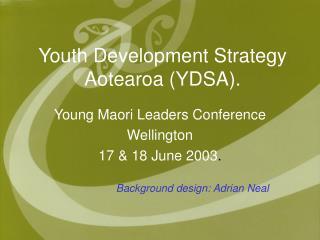 Youth Development Strategy Aotearoa (YDSA).