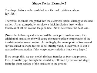 Shape Factor Example 2
