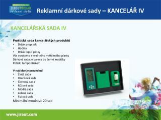 Reklamní dárkové sady – KANCELÁŘ IV