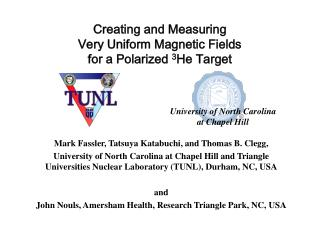 Creating and Measuring  Very Uniform Magnetic Fields  for a Polarized  3 He Target