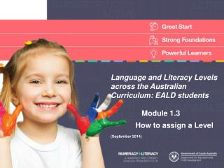 Language and Literacy Levels across the Australian Curriculum: EALD students      Module  1.3