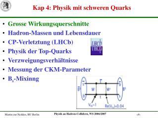 Kap 4: Physik mit schweren Quarks