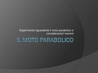 Il moto parabolico