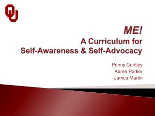 ME! A Curriculum for Self-Awareness & Self-Advocacy
