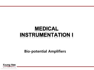 Bio-potential Amplifiers