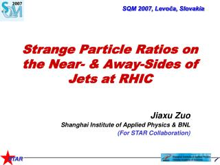 Strange Particle Ratios on the Near- & Away-Sides of Jets at RHIC