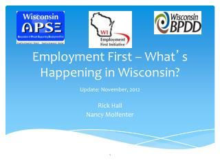 Employment First – What ' s Happening in Wisconsin?