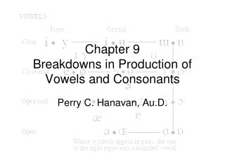 Chapter 9 Breakdowns in Production of Vowels and Consonants