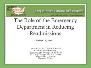 The Role of the Emergency Department in Reducing Readmissions