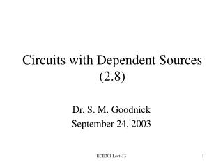 Circuits with Dependent Sources (2.8)