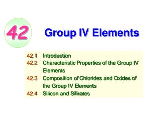 Group IV Elements