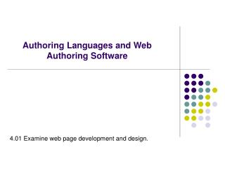 Authoring Languages and Web Authoring Software