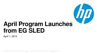 April Program Launches from EG SLED
