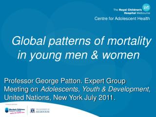 Global patterns of mortality in young men & women