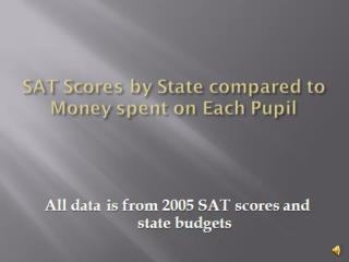 Christopher Squitieri: DEV SAT Scores by State compared to Money spent on Each Pupil
