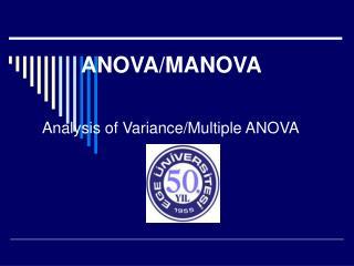 ANOVA/MANOVA