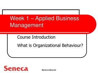 Week 1 – Applied Business Management
