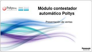 Módulo  contestador  automático  Poltys