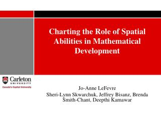 Charting the Role of Spatial Abilities in Mathematical Development