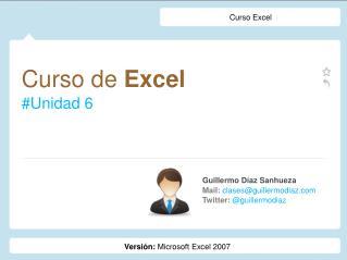 Curso de  Excel #Unidad 6