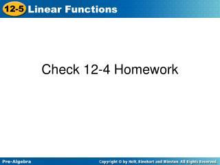 Check 12-4 Homework