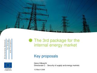 The 3rd package for the internal energy market
