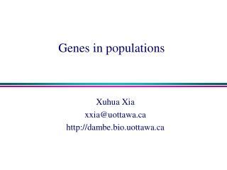 Genes in populations
