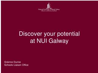 Discover your potential at NUI Galway