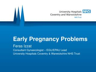 Early Pregnancy Problems