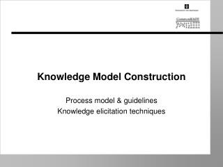 Knowledge Model Construction