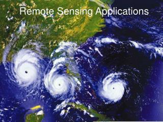 Remote Sensing Applications