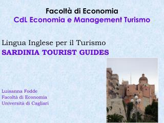 Facoltà di Economia CdL Economia e Management Turismo