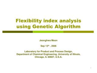 Flexibility index analysis using Genetic Algorithm