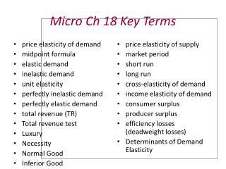 Micro Ch 18 Key Terms