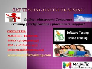 SAP TESTING ONLINE TRAINING IN SOUTH AFRICA