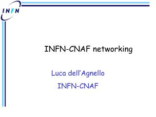 INFN-CNAF networking