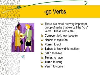 -go Verbs