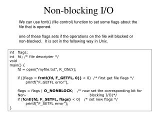 Non-blocking I/O