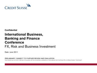International Business, Banking and Finance Conference