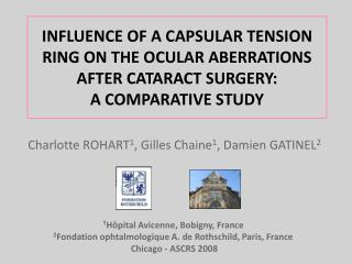 INFLUENCE OF A CAPSULAR TENSION RING ON THE OCULAR ABERRATIONS AFTER CATARACT SURGERY:  A COMPARATIVE STUDY