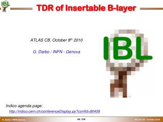 TDR of  Insertable  B-layer
