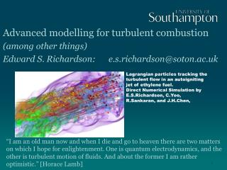 Advanced  modelling  for turbulent combustion (among other things)